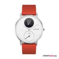 Withings Steel HR Regular - 36mm, Silikon - Rot/Weiß/Silber