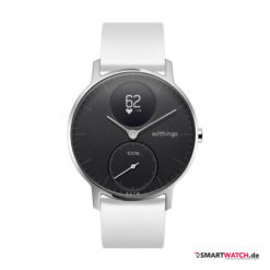 Withings Steel HR Regular - 36mm, Silikon - Weiß/Silber