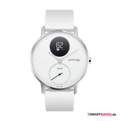 Withings Steel HR Regular - 36mm, Silikon - Weiß/Weiß/Silber