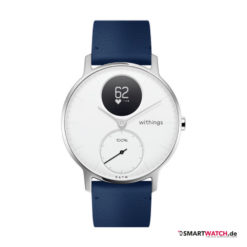 Withings Steel HR Regular - 36mm, Leder - Blau/Weiß/Silber