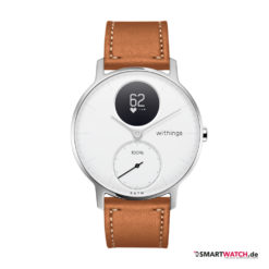 Withings Steel HR, Regular 36mm, Leder -Braun/Weiß/Silber