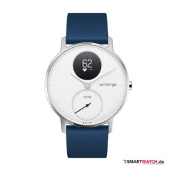 Withings Steel HR, Regular 36mm, Silikon - Blau/Weiß/Silber