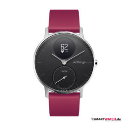 Withings Steel HR, Regular 36mm, Silikon - Lila/Silber