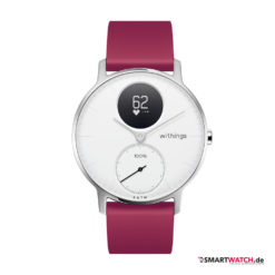 Withings Steel HR, Regular 36mm, Silikon - Lila/Weiß/Silber