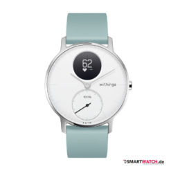 Withings Steel HR, Regular 36mm, Silikon -Mineral Blau/Weiß/Silber