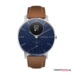 Withings Steel HR Sapphire - Braun/Silber/Blau