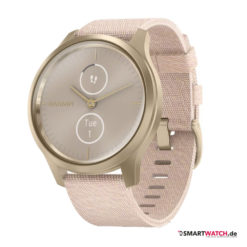 Garmin vivomove Luxe, Nylon - Beige/Gold