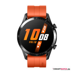 Huawei Watch GT 2 46mm, Silikon - Orange/Schwarz