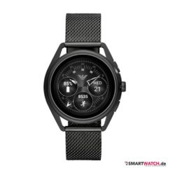 Emporio Armani Connected Touchscreen Smartwatch - Mesh, Schwarz