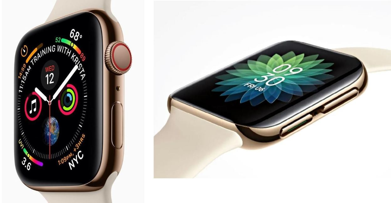 apple watch vs. oppo smartwatch