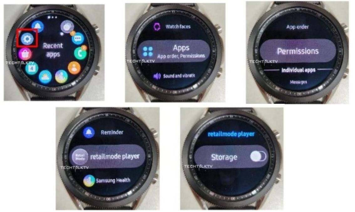 samsung galaxy watch 3 menue leak smartwatch